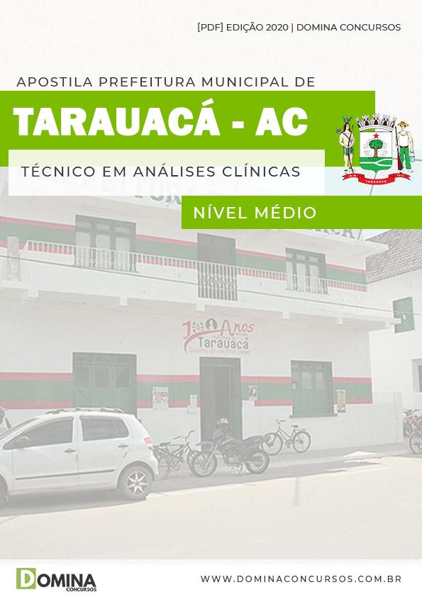 Apostila Pref Tarauacá AC 2020 Técnico Análises Clínicas