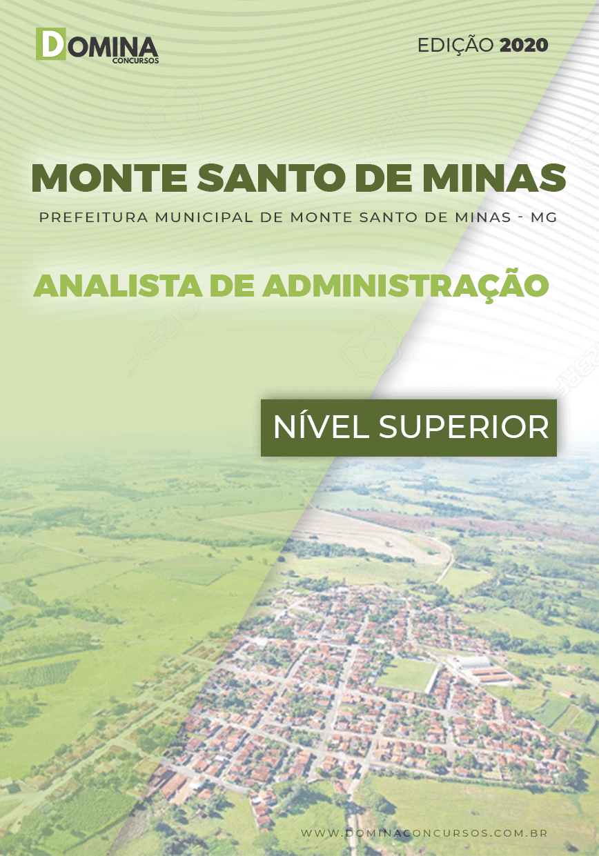 Apostila Pref Monte Santo Minas MG 2020 Analista Administração
