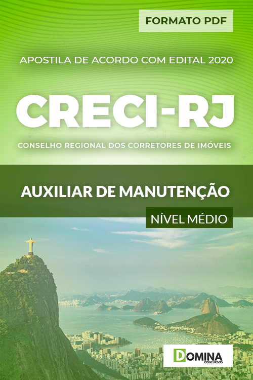 Apostila Concurso CRECI RJ 2020 Auxiliar de Manutenção