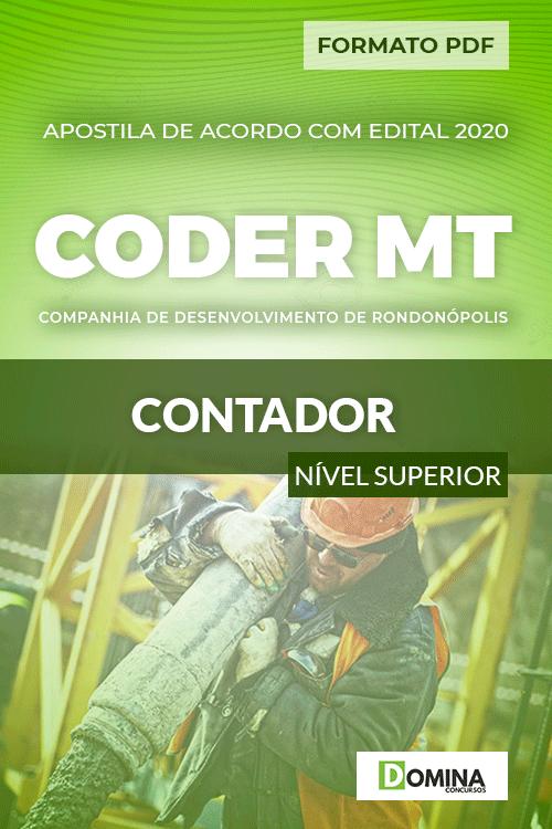 Apostila Concurso Público CODER MT 2020 Contador
