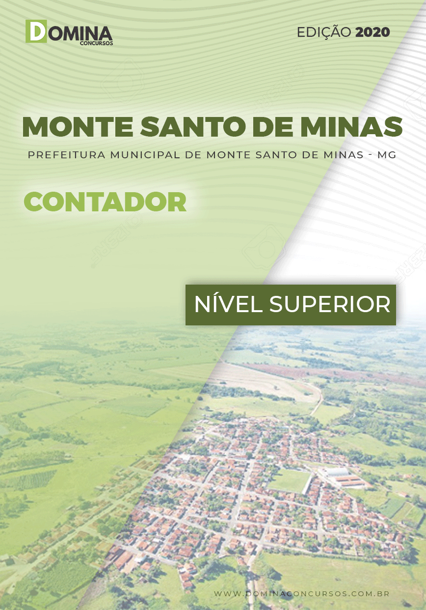 Apostila Pref Monte Santo Minas MG 2020 Contador