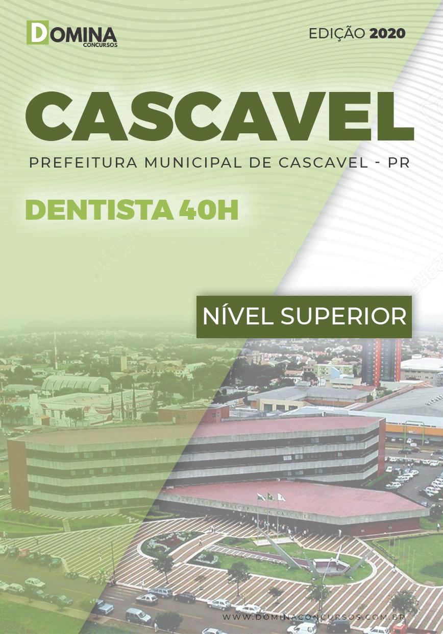 Apostila Concurso Prefeitura Cascavel PR 2020 Dentista