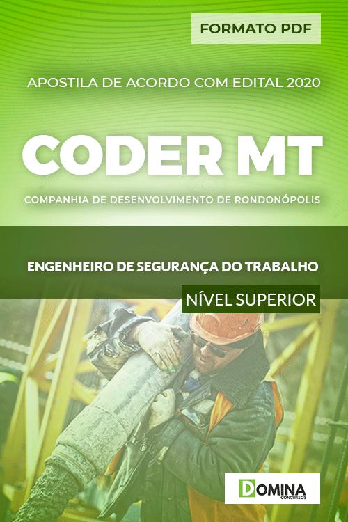 Apostila CODER MT 2020 Engenheiro de Segurança Trabalho
