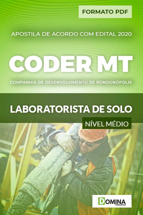 Apostila Concurso CODER MT 2020 Laboratorista de Solo