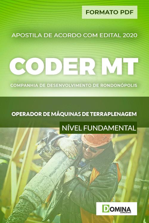 Apostila CODER MT 2020 Operador Máquinas Terraplenagem