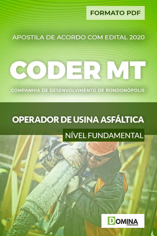 Apostila Concurso CODER MT 2020 Operador de Usina Asfáltica