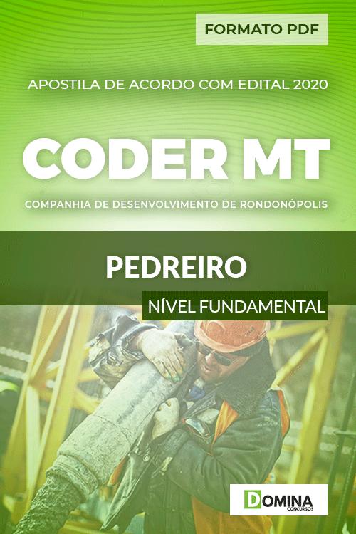 Apostila Concurso Público CODER MT 2020 Pedreiro