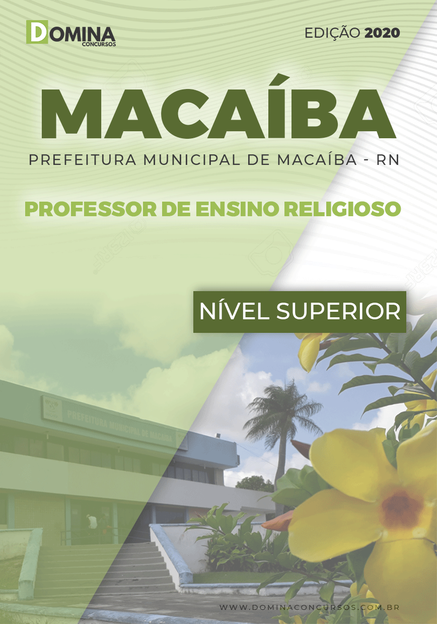 Apostila Pref Macaíba RN 2020 Professor de Ensino Religioso