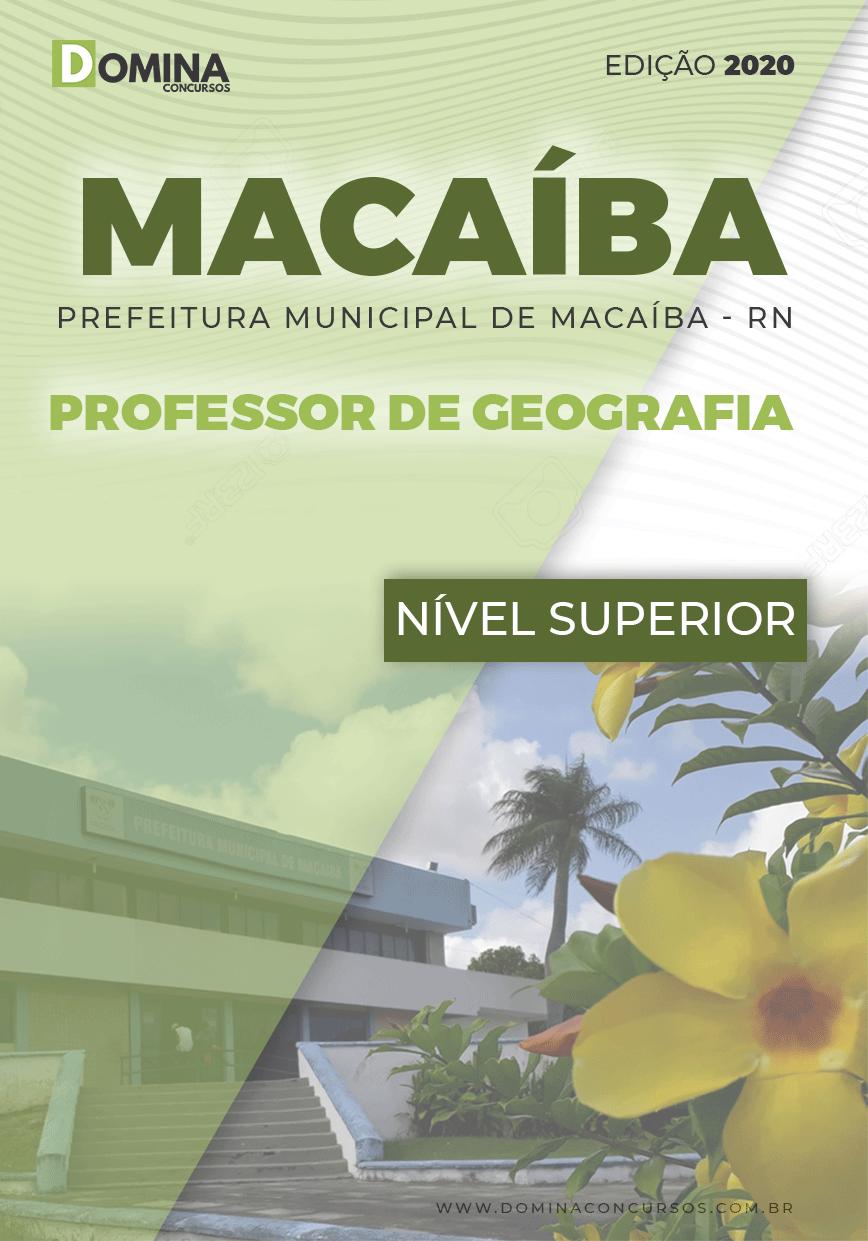 Apostila Pref Macaíba RN 2020 Professor de Geografia