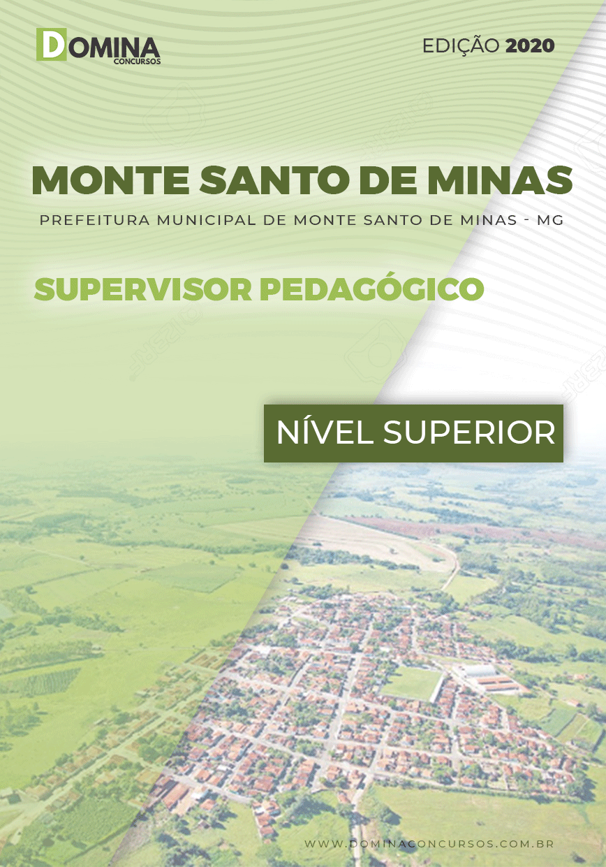 Apostila Pref Monte Santo Minas MG 2020 Supervisor Pedagógico