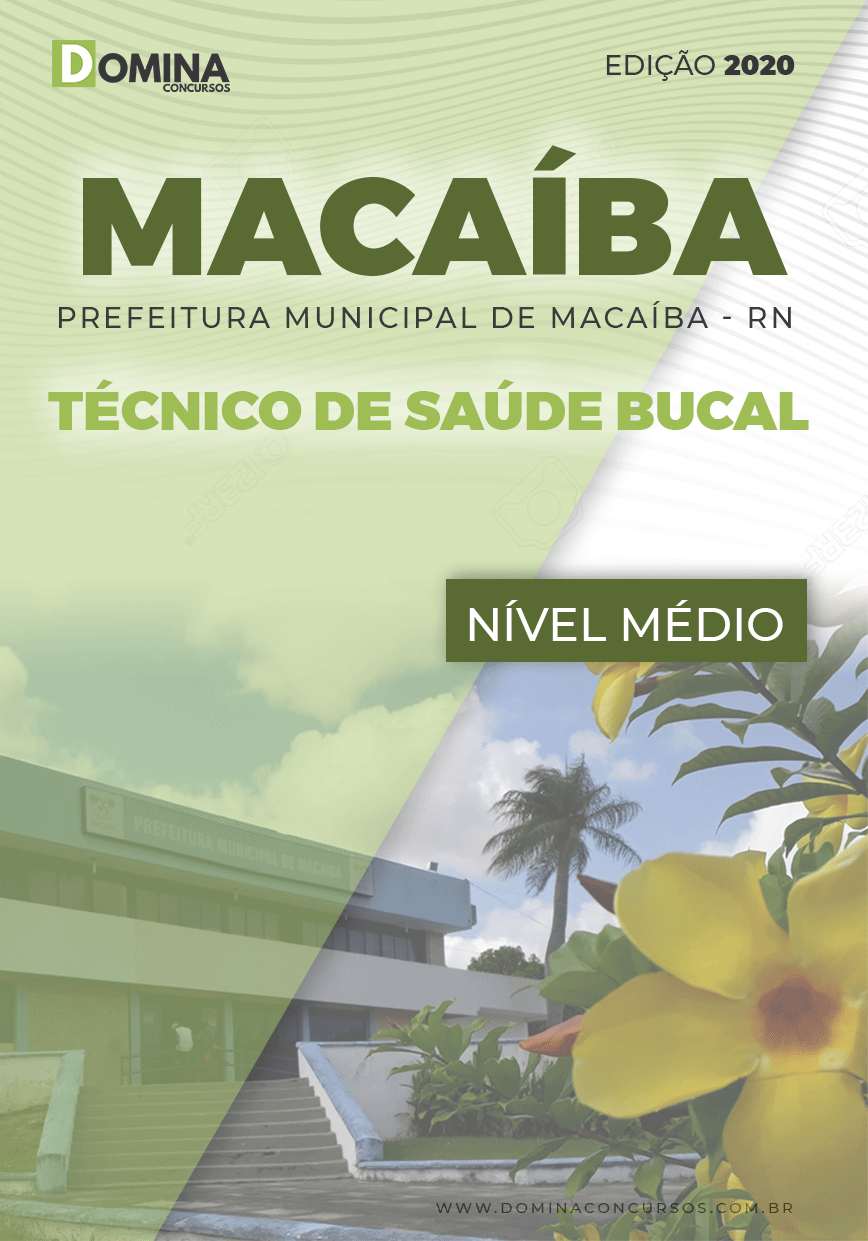 Apostila Pref Macaíba RN 2020 Técnico de Saúde Bucal