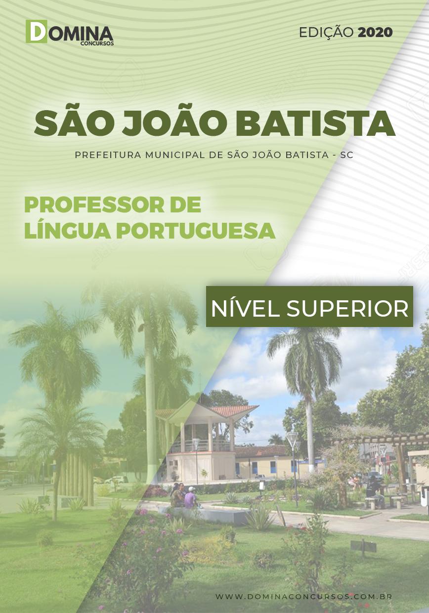 Apostila São João Batista 2020 Professor Língua Portuguesa