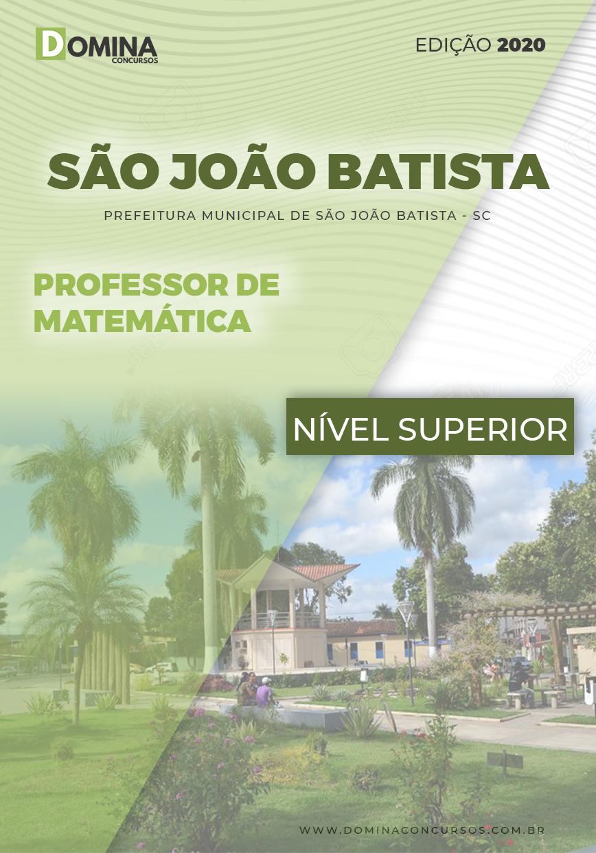 Apostila São João Batista 2020 Professor de Matemática