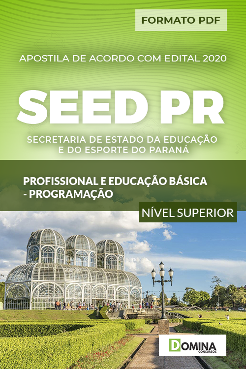 Apostila Concurso SEED PR 2020 Profissional Programação