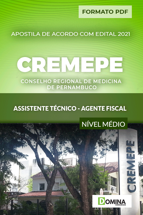 Apostila CREMEPE 2021 Assistente Técnico Agente Fiscal