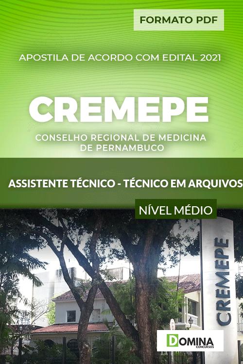 Apostila CREMEPE 2021 Assistente Técnico em Arquivos
