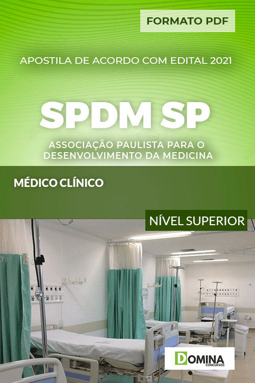 Apostila Concurso SPDM SP 2021 Médico Cínico