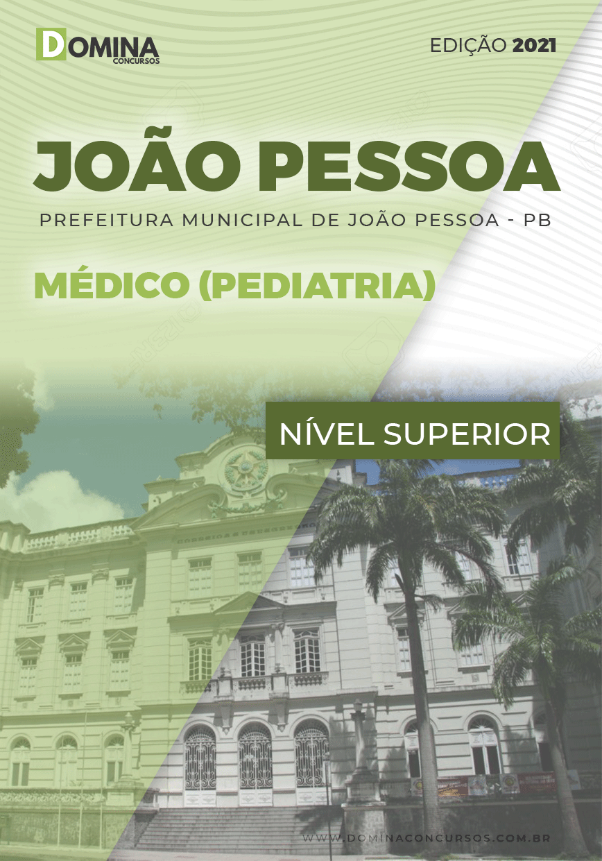Apostila Pref João Pessoa PB 2021 Médico Pediatria