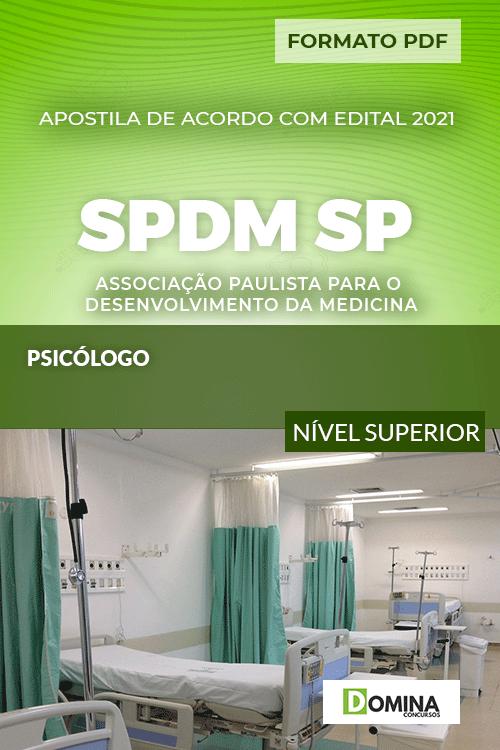 Apostila Concurso SPDM SP 2021 Psicólogo