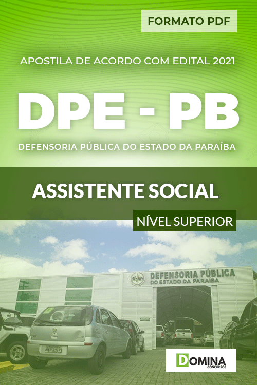 Apostila Processo Seletivo DPE PB 2021 Assistente Social