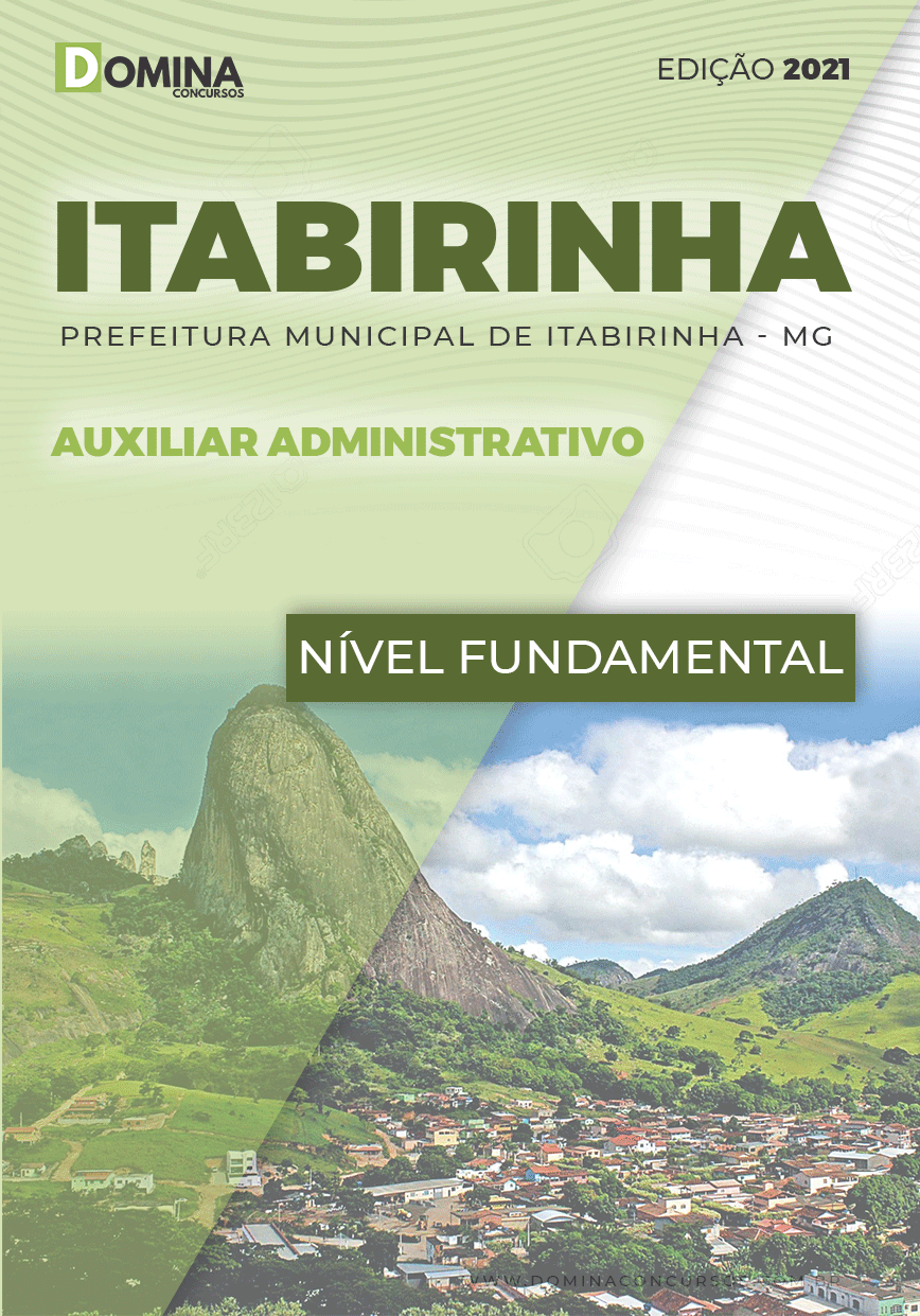 Apostila Concurso Pref Itabirinha MG 2021 Auxiliar Administrativo