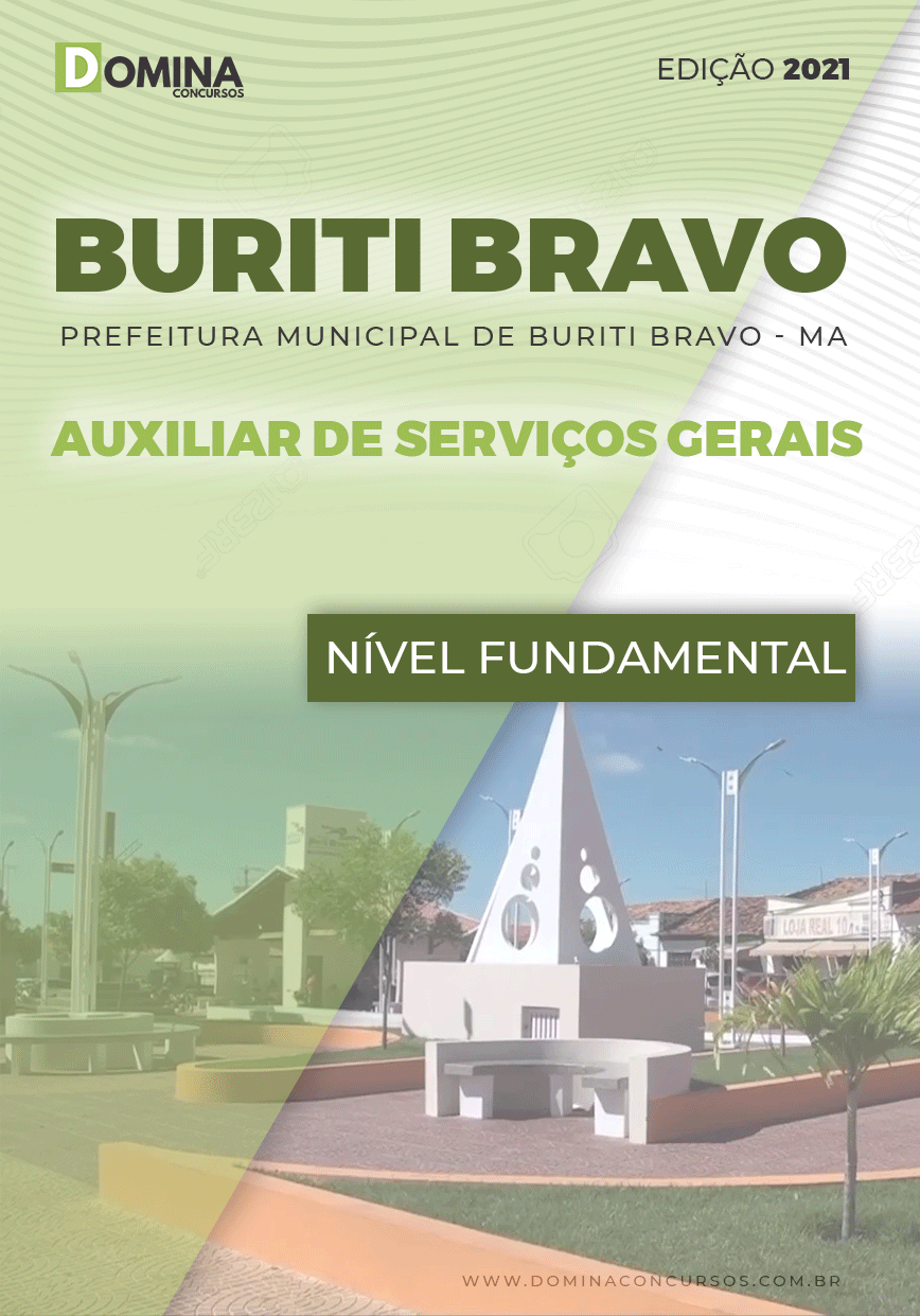 Apostila Pref Buriti Bravo MA 2021 Auxiliar de Serviços Gerais