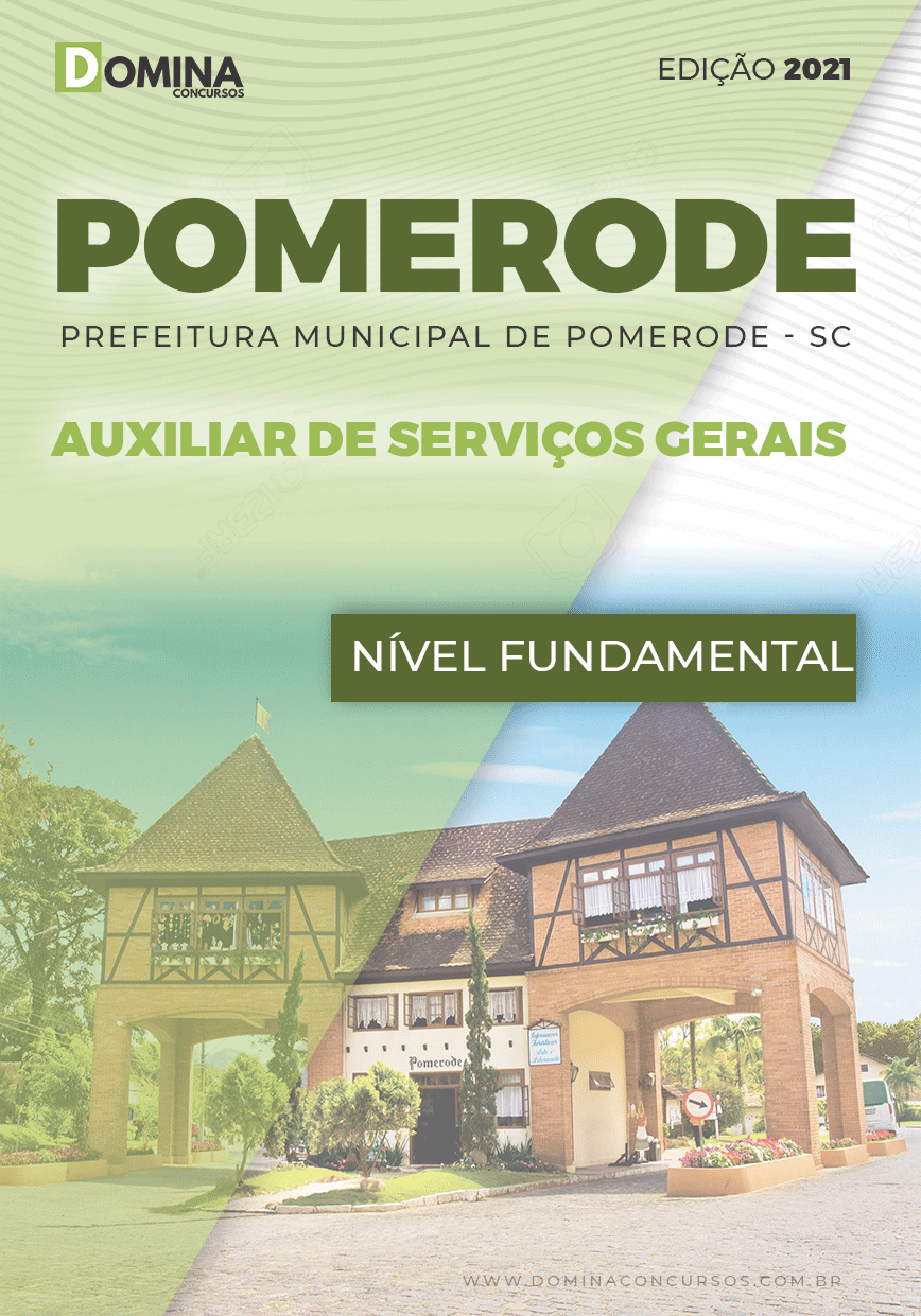 Apostila Pref Pomerode SC 2021 Auxiliar de Serviços Gerais