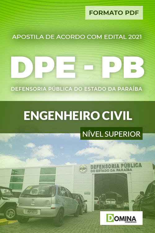 Apostila Processo Seletivo DPE PB 2021 Engenheiro Civil