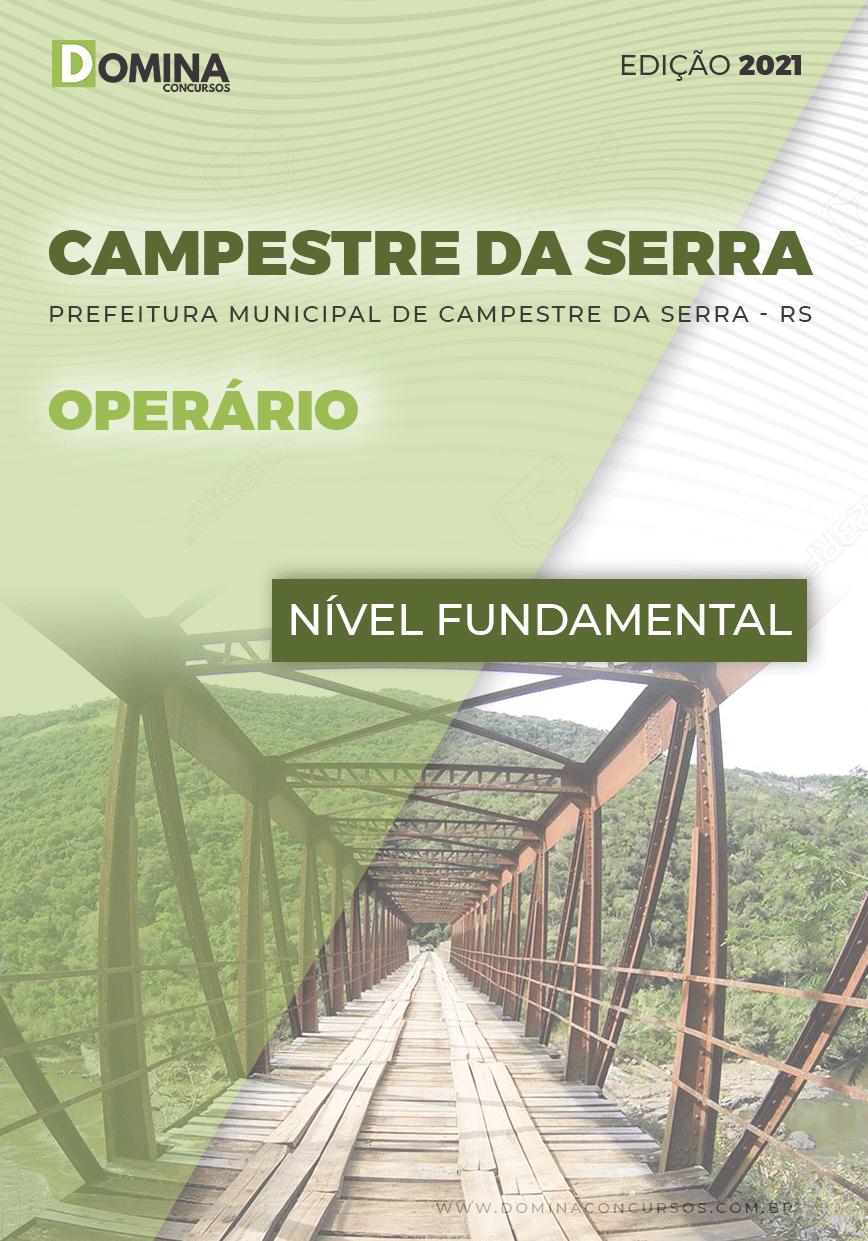 Apostila Concurso Pref Campestre Serra RS 2021 Operário