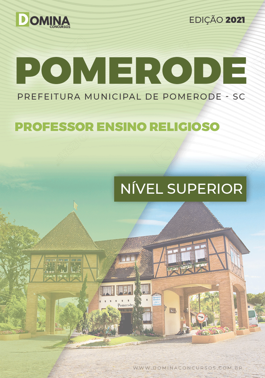 Apostila Pref Pomerode SC 2021 Professor Ensino Religioso