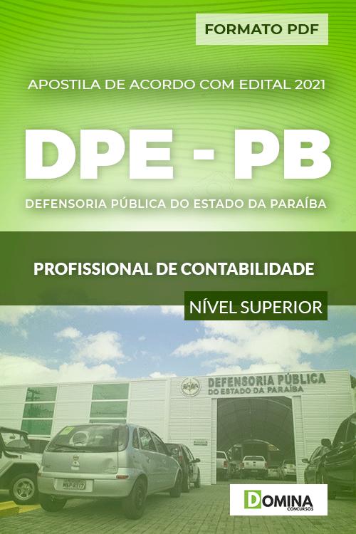 Apostila Seletivo DPE PB 2021 Profissional de Contabilidade
