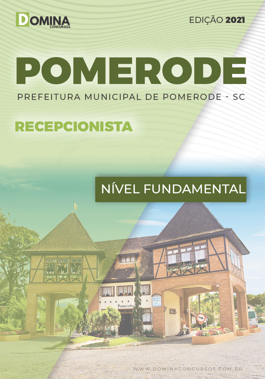 Apostila Seletivo Pref Pomerode SC 2021 Recepcionista