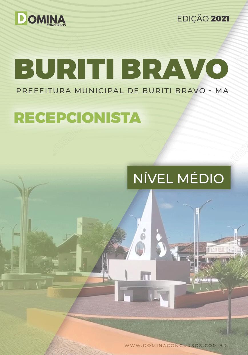 Apostila Concurso Pref Buriti Bravo MA 2021 Recepcionista