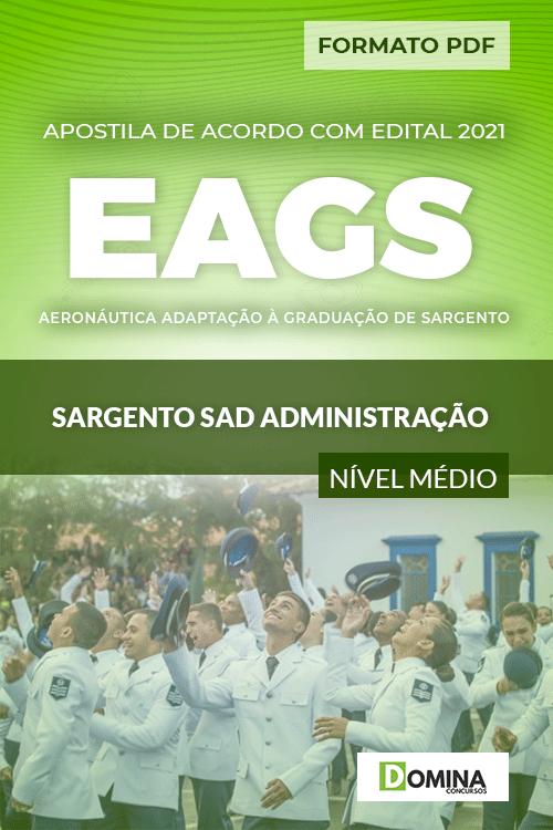 Apostila Aeronáutica EAGS 2022 Sargento SAD Administração
