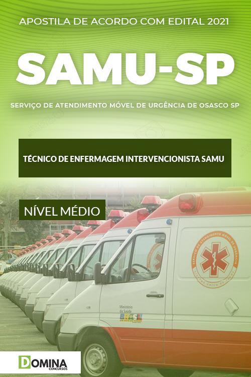 Apostila SAMU Osasco SP 2021 Técnico de Enfermagem SAMU