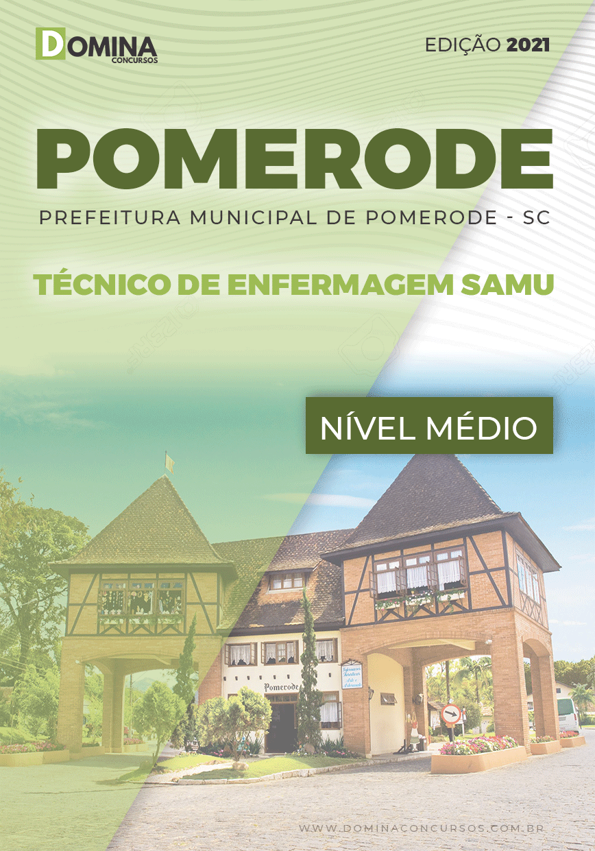 Apostila Pref Pomerode SC 2021 Técnico de Enfermagem SAMU