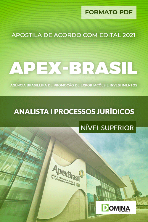 Apostila Concurso Apex Brasil 2021 Analista I Processos Jurídicos