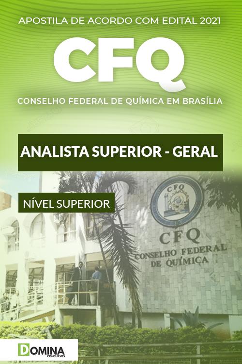 Apostila Concurso CFQ DF 2021 Analista Superior Geral