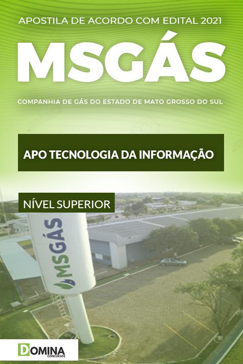 Apostila Concurso MSGás 2021 APO Tecnologia da Informação