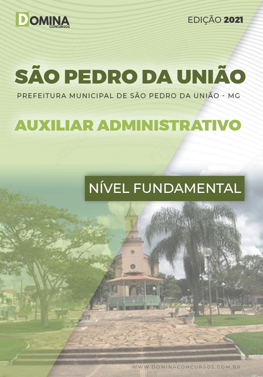 Apostila Pref São Pedro União MG 2021 Auxiliar Administrativo