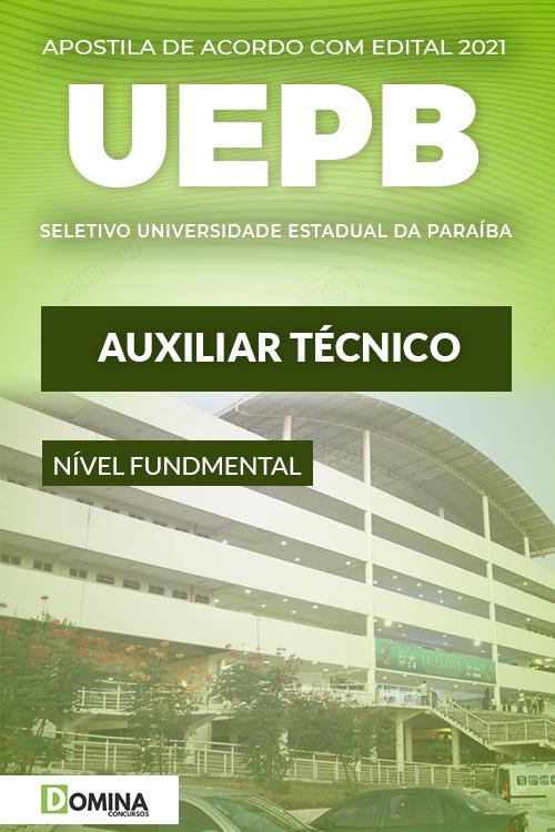 Apostila Processo Seletivo UEPB 2021 Auxiliar Técnico