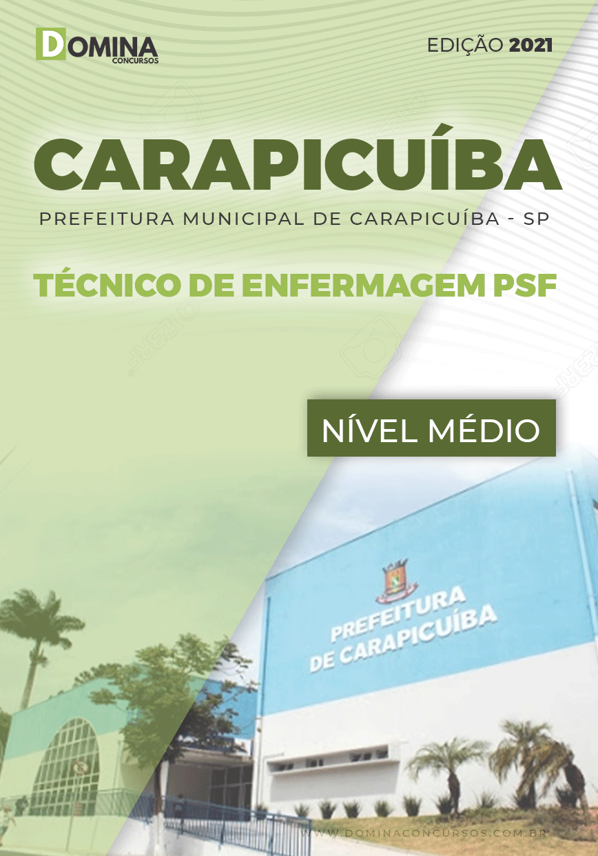 Apostila Pref Carapicuíba SP 2021 Técnico de Enfermagem PSF