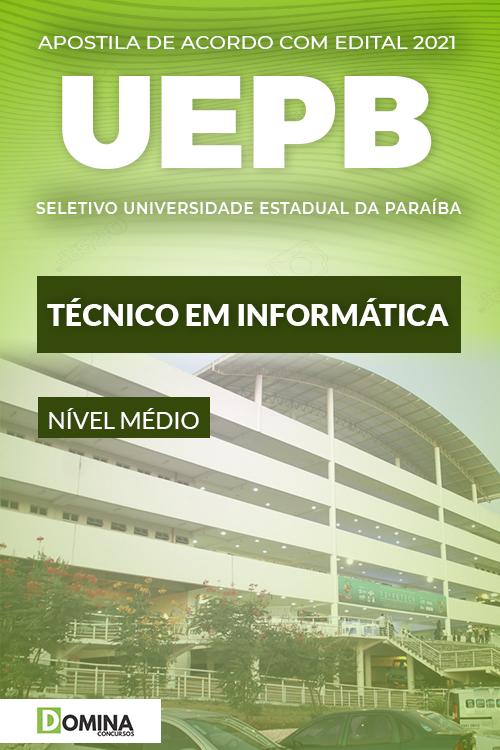 Apostila Processo Seletivo UEPB 2021 Técnico em Informática