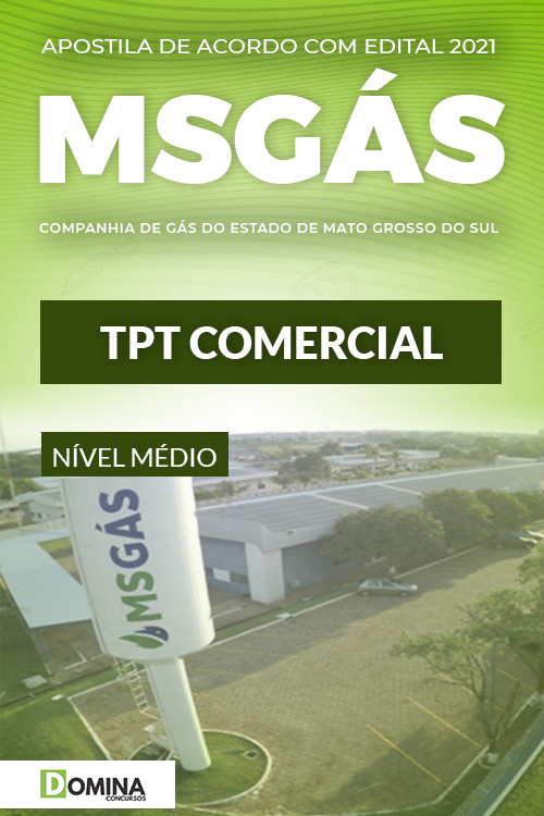 Apostila Concurso Público MSGás 2021 TPT Comercial