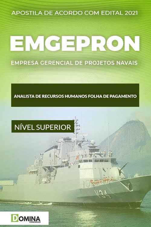 Apostila EMGEPRON 2021 Analista de RH Folha de Pagamento