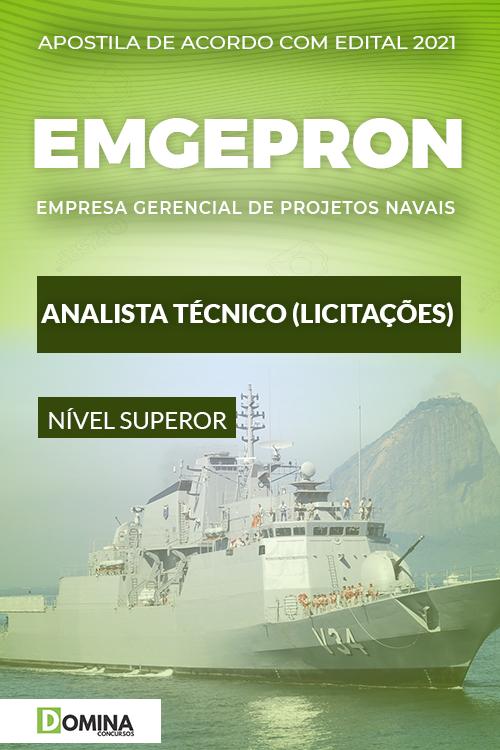 Apostila Concurso EMGEPRON 2021 Analista Técnico Licitações