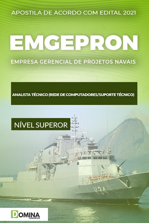 Apostila EMGEPRON 2021 Analista Rede Computadores Suporte