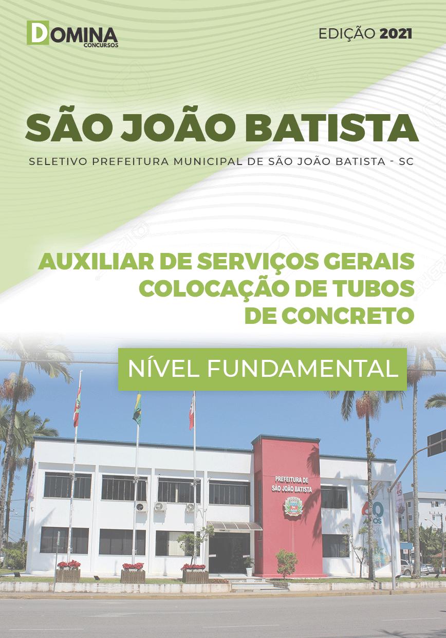 Apostila São João Batista SC 2020 Auxiliar Serviços Gerais