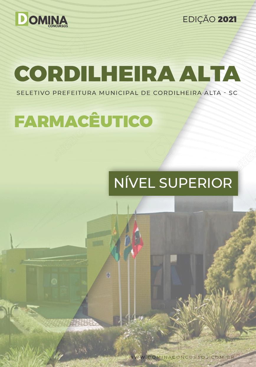 Apostila Seletivo Pref Cordilheira Alta SC 2021 Farmacêutico