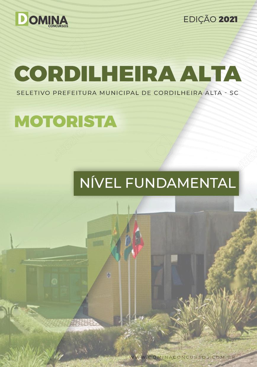 Apostila Seletivo Pref Cordilheira Alta SC 2021 Motorista